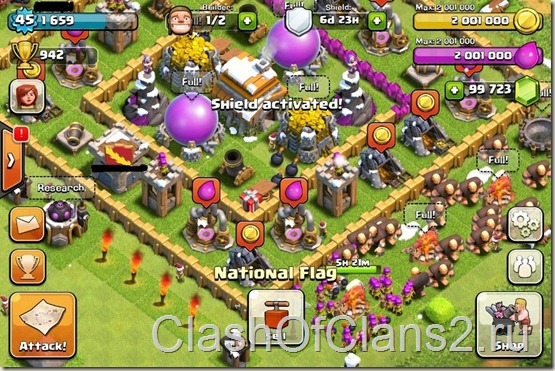 Скачать взломанный Clash of Clans для IOS